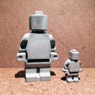 Concrete X-Large Lego Man