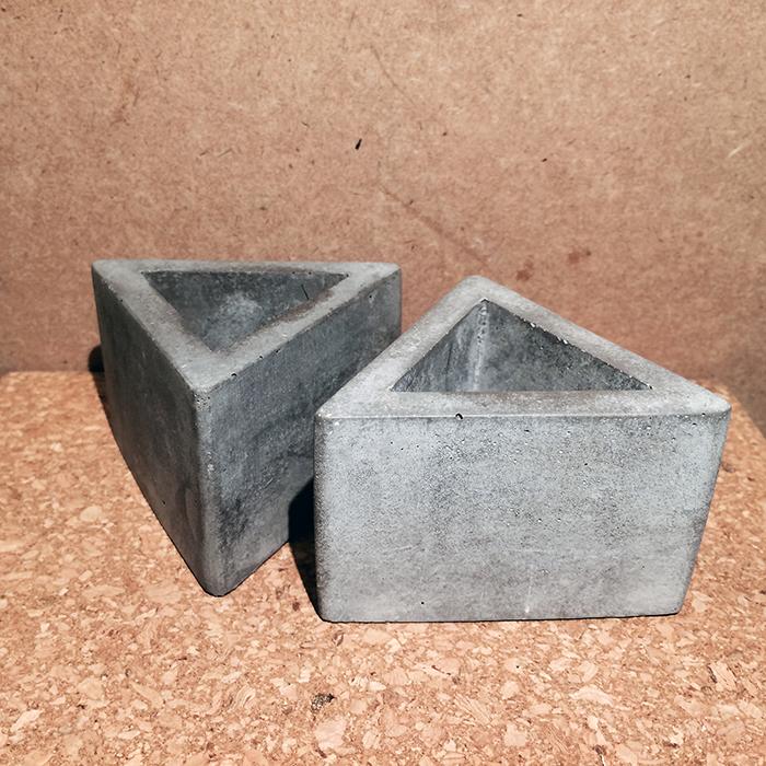 Concrete Triangle Pot-