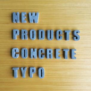 Concrete Typo  – 40X53X22mm THK. – 0.065 KG – 1 pcs – $25 HKD