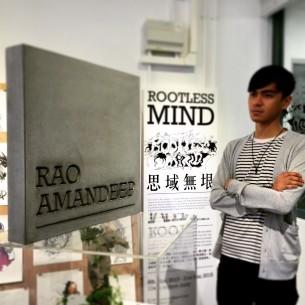Mr. Hammers X Rao Amandeep - Rootlessmind 一個印度人皮囊內的香港土砲-個人畫展。  Mr. Hammers 當然要準備一個有份量的禮物啦!