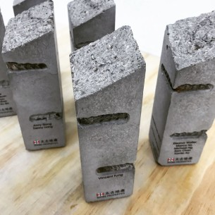 100% Upcycling Concrete Trophy